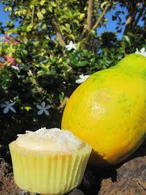 Becca Bakes Cupcakes: Coconut Papaya Cupcakes & an Aloha!