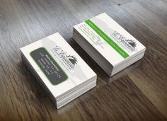 Cartes d'affaires - L'Équinoxe, soins de santé. Inclus la conception d'une image de marque et d'un logo