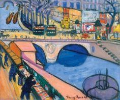 Tihanyi Lajos. Pont Saint Michel, Paris, 1908
