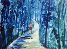 oil painting St. James: In the eucalyptus forests before Peon | Christian Seebauer