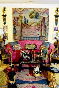 Designer Living Room for Miniature Collector magazine by Suzanne Crowley. The colors are spectacular together!