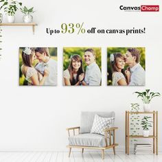 Get up to off on canvas prints today and get the very best in quality. Transform your living space today! Create Your Own Canvas, Custom Canvas Prints, Photo Canvas, Online Printing, Space, Floor Space, Spaces