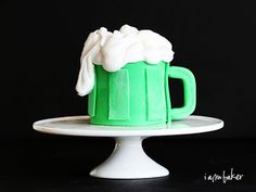 I made these cupcakes last year, but never shared the tutorial for them on my blog. Since they are so easy and SO fun, I couldnt resist sharing them this year!  Pin It Not only are these beer mug St. Patrick's Day cupcakes fun and easy to do, but they're actuallymadewith beer, thanks to