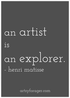 """An artist is an explorer. He should begin by seeking himself, seeing himself act. Then, not restraining itself. And above all, not being easily satisfied."" Henri Matisse Quotes Art Artists quotes Sayings Creative writing Inspirational quotes The Words, Cool Words, Great Quotes, Me Quotes, Inspirational Quotes, Motivational, Henri Matisse, Matisse Art, Artist Quotes"
