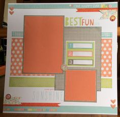 A single scrapbook layout using Close to my Heart's Zoe paper…