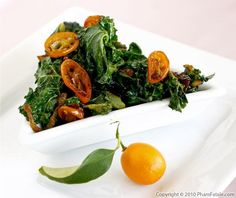kale with caramelized kumquats...yummy way to give greens a twist
