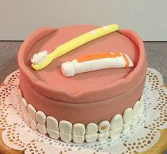 Gebit taart als bedankje voor de tandarts!