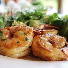 Camarão alho e óleo à moda espanhola @ allrecipes.com.br