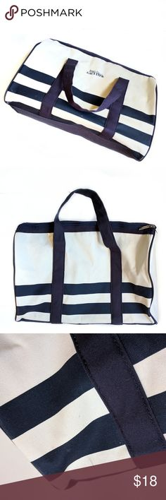 Jean Paul Gaultier Canvas Duffle Bag Has a few marks on it but still perfectly cute and functional. See pics for condition. Color is cream with navy accents. Sorry, no trades. Jean Paul Gaultier Bags Travel Bags