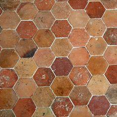 Hexagon Terracotta Stone Flooring | Francois & Co.