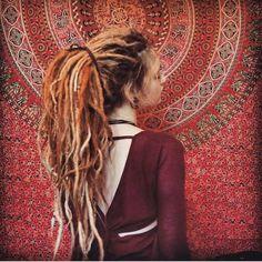 Dreads pony tail girl boho hippie                                                                                                                                                     More