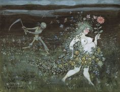 Life and Death | Ivar Arosenius | 1905 | Nationalmuseum, Sweden | Public Domain Marked