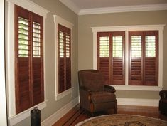 white baseboards with wood windows - - Yahoo Image Search Results Interior Shutters, Wood Shutters, Interior Trim, Best Interior, Wood Blinds, White Shutters, Interior Shop, Interior Office, Window Shutters
