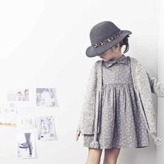 Tocoto Vintage Star Dress, Grey