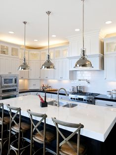 51 Best Pendant Lights over Kitchen Islands images | Kitchen ...