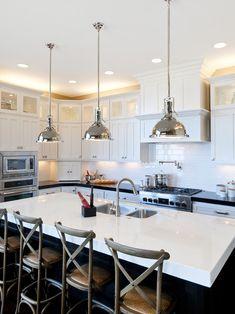 pendant lighting over kitchen island # 42