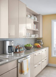home depot select kitchen style beige cabinets - Beige kitchen - GS Home Kitchen Room Design, Kitchen Cabinet Design, Home Decor Kitchen, Interior Design Kitchen, Kitchen Ideas, Home Interior, Interior Decorating, Beige Kitchen Cabinets, Beige Kitchen Furniture