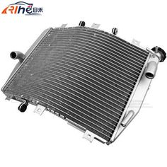 105.28$  Watch now - http://aliop8.worldwells.pw/go.php?t=32522600478 - high quality motorcycle radiator cooler aluminum motorbike radiator black For Kawasaki ZX10R ZX-10R 2004-2005