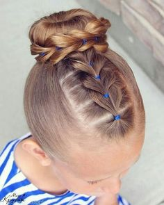 Flip-Braided Little Girls Hairstyle