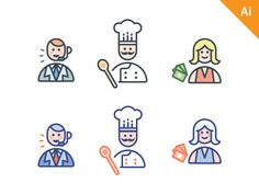 Abandoned icons project. Free sources. by Vincent Le Moign
