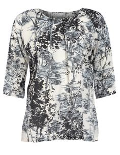 STUDIO - Print shirt with decorative buttons - navabi