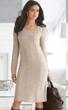 Bought it. Bought it. Bodycon Outfits, Casual Dress Outfits, Fall Fashion Outfits, Mode Outfits, Fashion 2015, Knitwear Fashion, Knit Fashion, Sweater Dress Outfit, Knit Dress