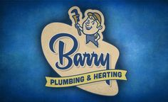 Vintage logo design for a plumbing, heating and air conditioning company.