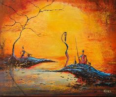 masai African Paintings, African Art, Tribal Art, Just Giving, Kenya, Watercolor Paintings, Decoupage, Creative, Artist