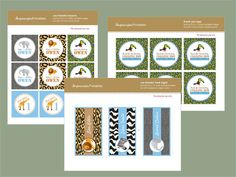 Zoo Birthday Party Printables