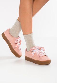 Puma VIKKY PLATFORM RIBBON BOLD - Sneaker low - peach beige - Zalando.de