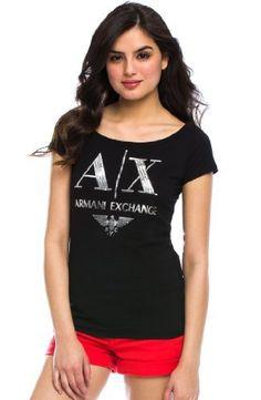 Armani Exchange Sequin Logo Tee A X Armani Exchange