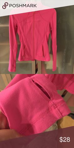 Lululemon Hot Pink Define Jacket In used condition with some piling. Not mint condition but a good jacket to wear when you don't feel like worrying about your expensive new Lulu ... You guys know what I'm talking about 😬 Price is set to sell, no offers. lululemon athletica Jackets & Coats