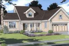 Exterior - Front Elevation Plan #46-301 - Houseplans.com