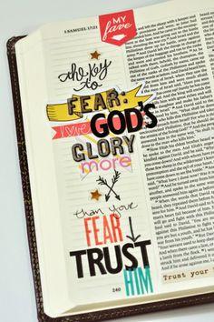 art journaling in your Bible