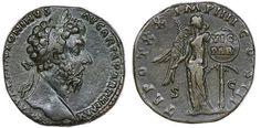 Roman Empire - Marcus Aurelius (161-180 AD), AE Sestertius, 166 AD