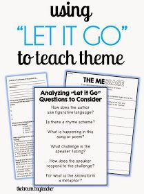 "The Brown-Bag Teacher: Reviewing Theme with Frozen's ""Let it Go"" - awesome"