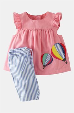 Buscar outlet, algo asi para 9 o Mini Boden Appliqué Dress & Leggings (Infant) available at Baby Outfits, Outfits Niños, Little Girl Outfits, Little Girl Dresses, Kids Outfits, Mini Boden, Fashion Kids, Baby Girl Fashion, Applique Dress
