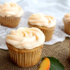 Browned butter and peaches make these cupcakes with a tender, moist crumb perfect for summertime celebrations.