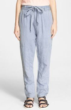 MARC BY MARC JACOBS Stripe Cotton & Linen Trousers available at #Nordstrom