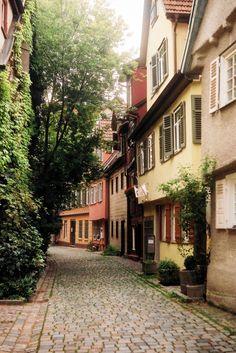Cobblestone Street . Baden-Wurttemberg, Germany