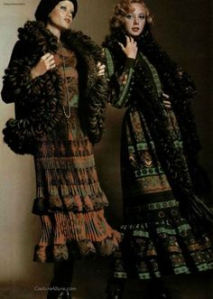 Fall/Winter fashions by Lanvin, 1974.