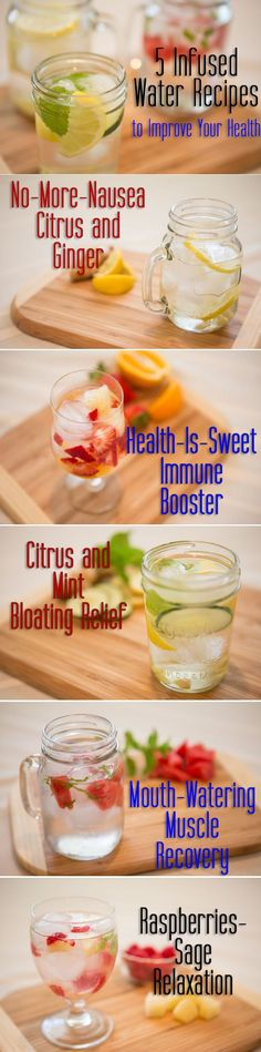 5 Infused Waters #hydrate #healthy