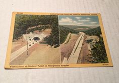 Vintage Linen Postcard - Laurel Hill Tunnel & Kittatinny Tunnel, Pennsylvania