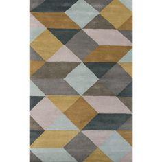 Jaipur Rugs En Casa Gray & Yellow Geometric Area Rug | AllModern