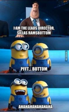 Minion Humor [ lol. just watched the sequel today, and it's hilarious. the minions are just too cute <3 ]