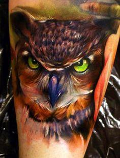 Amazing owl tattoo