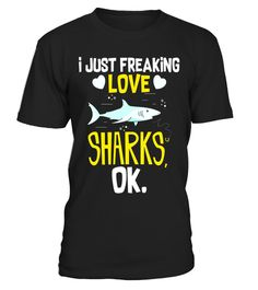 """# I Freaking Love Sharks T Shirt - Funny Shark Lovers Gift Tee .  Special Offer, not available in shops      Comes in a variety of styles and colours      Buy yours now before it is too late!      Secured payment via Visa / Mastercard / Amex / PayPal      How to place an order            Choose the model from the drop-down menu      Click on """"Buy it now""""      Choose the size and the quantity      Add your delivery address and bank details      And that's it!      Tags: This funny novelty…"""