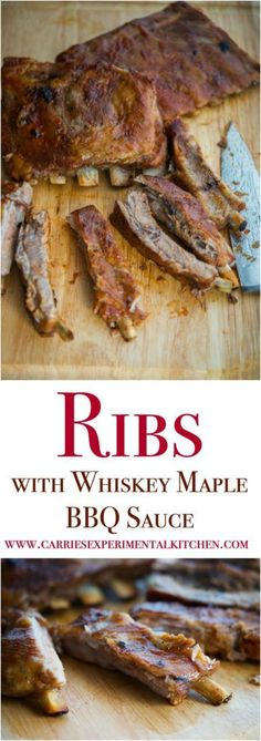 Nothing says summer than a perfectly seasoned rack of ribs on the grill. These Ribs with Whiskey Maple BBQ Sauce are fall off the bone, melt in your mouth good. Try this sauce on grilled chicken too. Veal Recipes, Rib Recipes, Crockpot Recipes, Dinner Recipes, Dinner Ideas, Savoury Recipes, Cookbook Recipes, Meal Ideas, Food Ideas