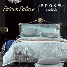 Single/Double/Queen/King/Super K Size Bed Quilt/Duvet Cover Set-Prince Palace  | eBay