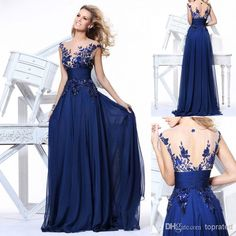Wholesale Prom Dresses - Buy 2014 SD064 $89 2014 US Size 2~16 In Stock Cocktail Homecoming Prom Party Dresses Evening Gowns Chiffon Royal Blue As Pictures Sheer Back, $89.0 | DHgate